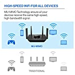 Linksys AC2200 Smart Mesh Wi-Fi Router for Home Mesh Networking, MU-MIMO Tri-Band Wireless Gigabit Mesh Router, Fast… 14 Provides up to 2,000 square feet of Wi-Fi coverage for 20+ wireless devices Works with existing modem, simple setup through Linksys App. Mobile device with Android 4.4 or iOS 9 and higher, Bluetooth preferred Enjoy 4K HD streaming, gaming and more in high quality without buffering