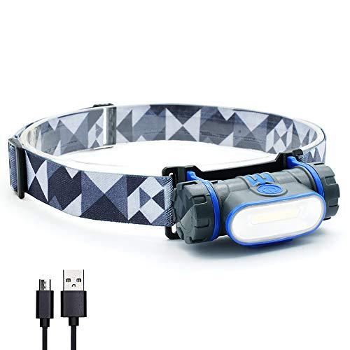 LED Headlamp Flashlight USB Rechargeable  HONEYGIRLSuper Brightest Headlamp Rechargeable with Dimming Function for HikingCampingRunningOutdoorEmergency Light Included 3 Light ModesWaterproof