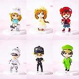 Cheaaff KY Figura de Anime Anime Trabajo células plaquetas glóbulos Blancos PVC Figura de acción Modelo Coleccionable muñeca de Juguete 6 unids / Set 6Cm