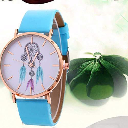 SANDA Relojes Mujer,Reloj de Correa Reloj de Cuarzo Ultrafino de aleación-Azul