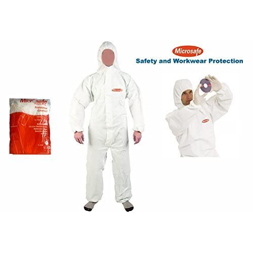 9912482992a MICROSAFE LARGE WHITE BOILER SUITS Disposable Coveralls CAT 3 TYPE 5   6 -  EC CERTIFIED 89 686 EEC  Amazon.co.uk  DIY   Tools