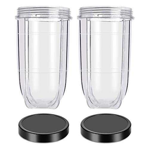 Replacement 16 Ounce Tall Jar Cups with Black Jar...