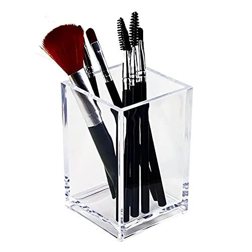 Organizador Transparente para Pinceles de Maquillaje, Soporte para bolígrafos de plástico, Mesa de Escritorio, Caja de Almacenamiento de cosméticos, Caja de joyería acrílica