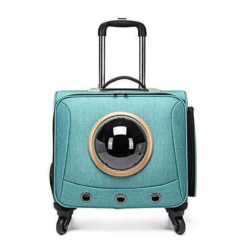 XLNB Universele Wielen Huisdier koffers, Intrekbare Kat en Hond Rugzakken en Geïntegreerde Trolley Inklapbare Koffers