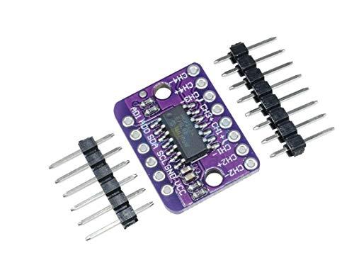 TECNOIOT MCP3424 Digitales I2C ADC-4-Kanal-Konvertierungsmodul 2.7V-5.5V Hohe Genauigkeit