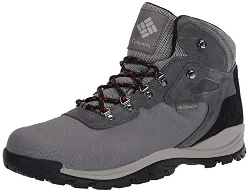 Columbia Men's Newton Ridge LT Waterproof Hiking Boots, Titanium Ii/Rust red, 9.5 Regular US