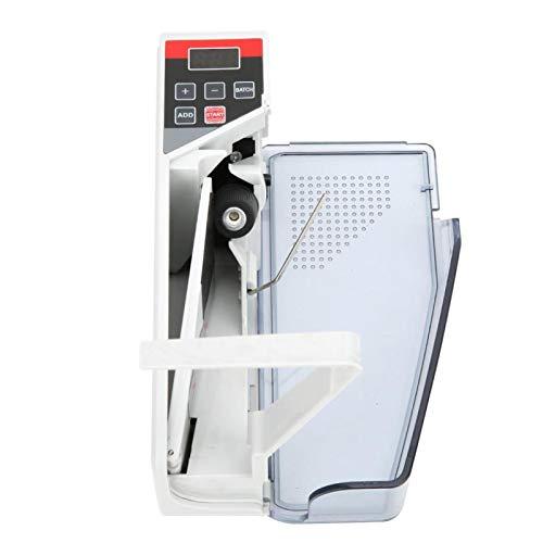 Máquina contadora de Dinero portátil, 110-240V Mini portátil de Mano Caja registradora de Dinero en Efectivo Contador de Moneda Contador de Monedas, para máquina contadora de Cambio pequeño(EU)