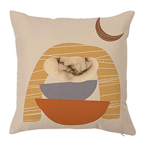 MissW Funda De Almohada Decorativa Abstracta De Hojas De Color Café Sin Núcleo De Almohada Cremallera Funda De Almohada Lavable Adecuada para Sofá De Dormitorio