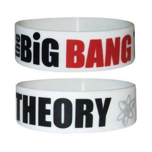 The Big Bang Theory Armband Logo weiß. Offiziell lizenziert