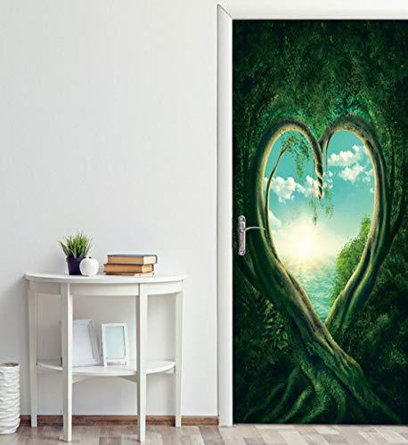 Pegatinas florales para puertas de dormitorio para accesorios de decoración de dormitorio papel tapiz fotográfico autoadhesivo impermeable para adolescentes