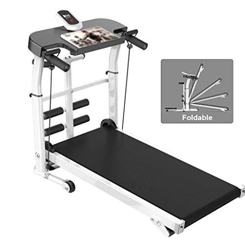 LZG Compact Folding Manual Treadmill for Home, Folding Manual Treadmill with Incline for Walking 350lbs, Running Machine for Fitness Exercise