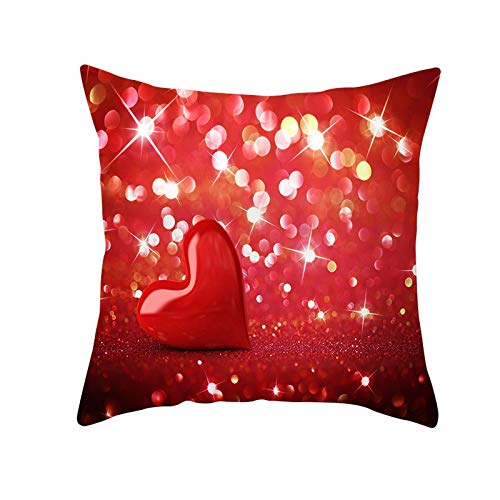 Funda de Cojín Decorativos Funda de Almohada Soñar con el amor Cuadrado Terciopelo Suave Cojines Decor con Cremallera Invisible para Sofá Cama Decor Hogar Funda de Cojín M1748 Pillowcase+core,40x40cm
