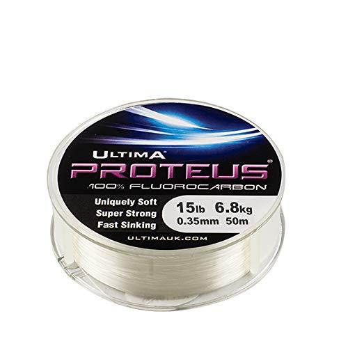 ULTIMA Proteus Línea de Pesca de fluorocarbono rígida, Unisex Adulto, Transparente, 0.25 mm-6.0 LB
