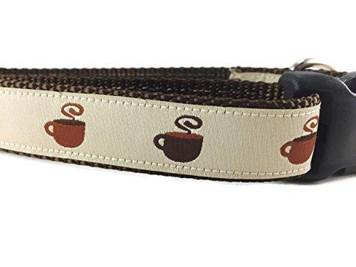CANINEDESIGN QUALITY DOG COLLARS caninedesign Qualität Halsbänder Hundehalsband, Kaffee, caninedesign, Mokka, 2,5cm Breit, Verstellbar, Nylon, mittelgroß und groß, Large 15-22