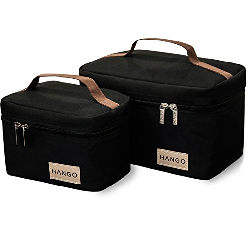HANGO Insulated Lunch Bag [Set of 2 Sizes] - For Women & Men - Easy to...