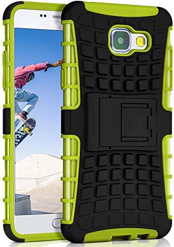 ONEFLOW Tank Hülle kompatibel mit Samsung Galaxy A5 (2016) - Hülle Outdoor stoßfest, Handyhülle mit Ständer, Kamera- & Displayschutz, Handy Hardcase Panzerhülle, Lime - Grün