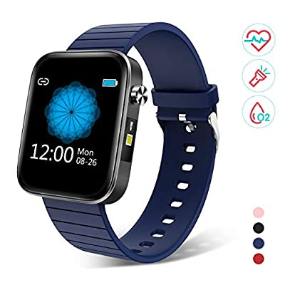 """Bingofit 1.54"""" Full Touch Screen Smart Watch, Waterproof Activity Tracker Sport Watch with Heart Rate Blood Pressure Monitor, Step Calorie Sleep Tracker Fitness Watch Men Women for Android & iOS Phone"""