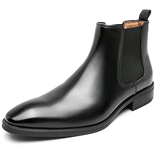 [フォクスセンス] ブーツ ビジネスシューズ チェルシーブーツ ビジネス サイドゴアブーツ メンズ チャッカーブーツ 革靴 本革 ストレートチップ ドレスシューズ フォーマル ブラック 25.5cm R112H-01
