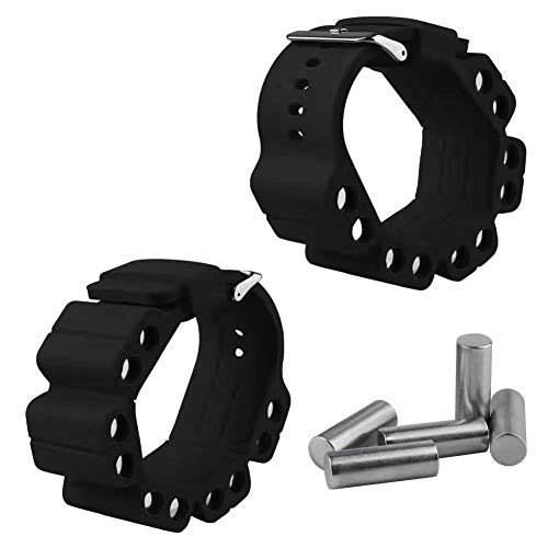 JooDaa Fitness Armband 2 Stück Silikon verstellbares Gewicht Yoga Fitness Armband Handgelenk Sport Gewicht tragender Armband Arm Trainingsarmband Sandsack