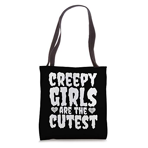 Creepy Girls Are The Cutest Cute Gothic Halloween Tote Bag