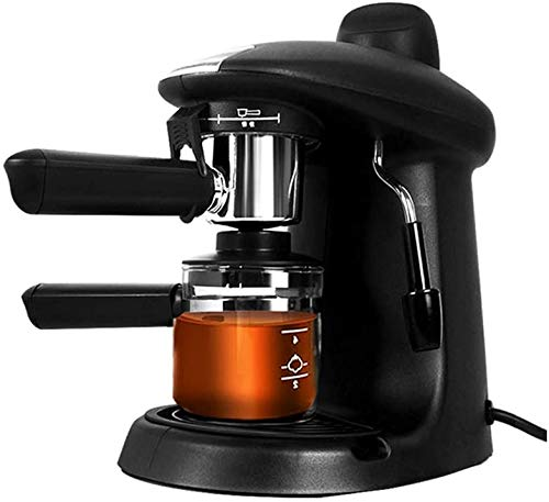 Sooiy Máquina de café Espresso, Cafetera hidropresión de 5 Bares, 4 Tazas de 250 ml, con espumador de Leche para café Capuchino 730W 2020 Coffee Machines