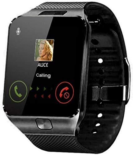Reloj inteligente con soporte Tf Sim, cámara para hombres y mujeres, reloj de pulsera Bluetooth para Samsung Huawei Xiaomi Android Phone (color: oro) - negro