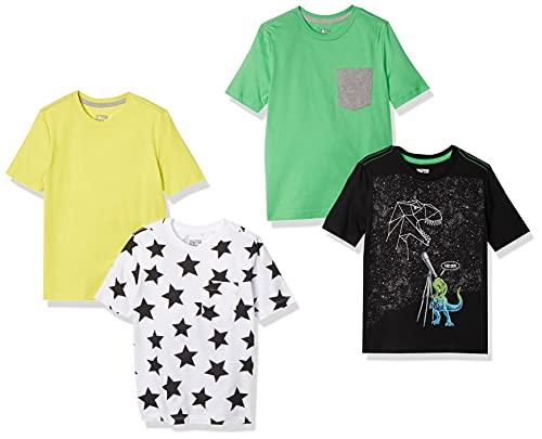 Spotted Zebra Boys' Short-Sleeve T-Shirts, 4-Pack Super Star, Medium