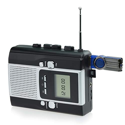 DIGITNOW Cassette Player Portable Radio Cassette Recorder (2 AA Batteries and DC Power not Included)