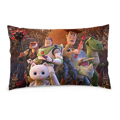 zhenglongbaihuodian Pillow Case Toy Story Rectangular Pillowcases Throw Cushion Covers Pillow Cover for Car Sofa Bed Home 14x20inch