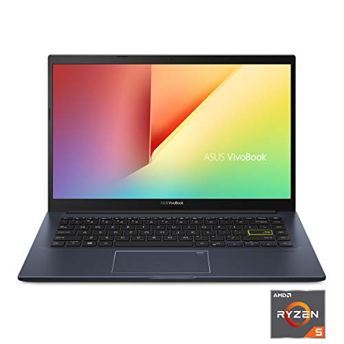2021 ASUS VivoBook Ultra Thin and Lightweight 14'' Full HD Laptop Quad Core AMD Ryzen 5 3500U up to 3.7 GHz 8GB RAM 256GB SSD Fingerprint Backlit Keyboard Webcam WiFi 6 Windows 10 Aloha Bundle