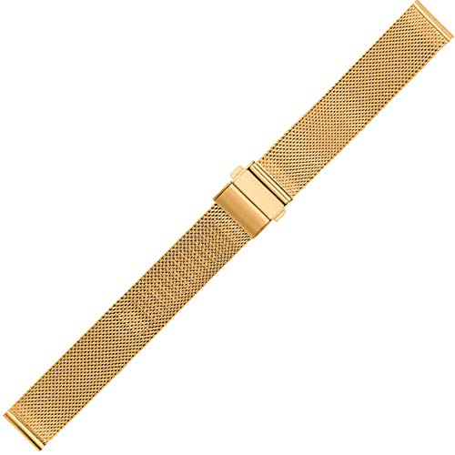 CZSTGB Stainless Steel Woven Watch Strap 16mm 18mm 20mm 22mm Milanese Watch Band Universal Watchband-Rosegold_20mm