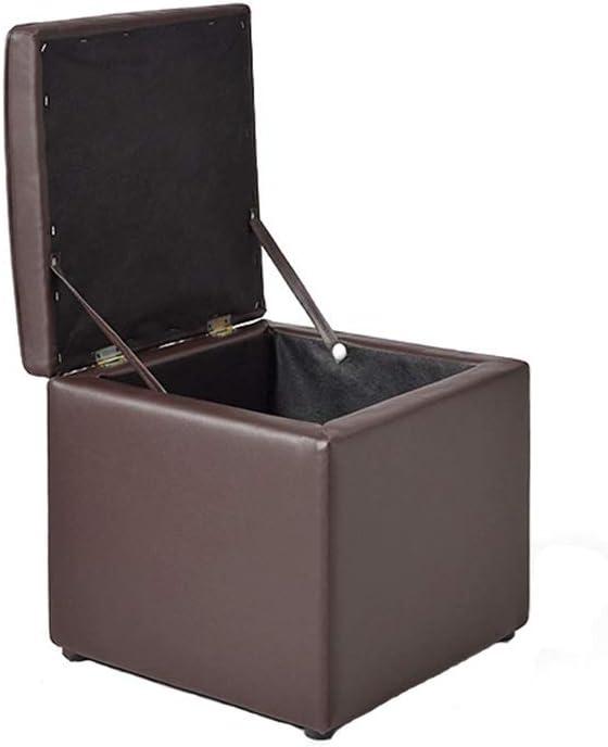 Tabourets GQIANG De Rangement, Siège De Boîte De Rangement, Repose-Pieds, Chaise, Charnière De Cube De Salon Et Meubles De Maison 40cmx40cmx40cm (Color : Black) Brown