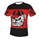 Hippie Short Sleeve T-Shirts for Men Boys Teens Adult, Georgia State Bulldogs College...