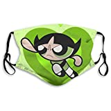 Cool Design The Powerpuff Girl Face Mask Reusable for Adult&Kid Cover Protection Balaclava with 2 Filter, Made in USA