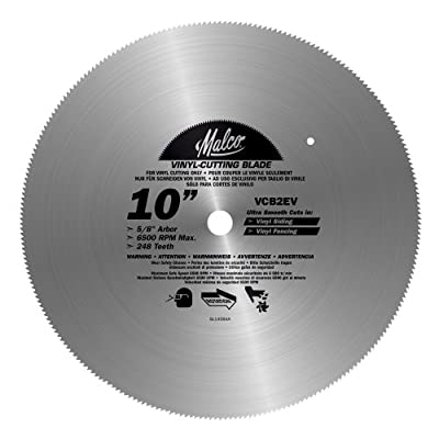 Malco VCB2 EV 10-Inch Vinyl Siding and Fencing Cutting Circular Saw Blade