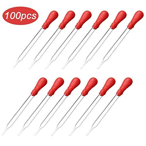 HXYQ Vloeibare etherische Olie Transfer Oogdruppelaar Met Rode Rubber Caps, Geweldig Voor het overbrengen van Vloeistoffen, Het meten van Essentiële Oliën, Het mengen van Acryl Verf -10.22