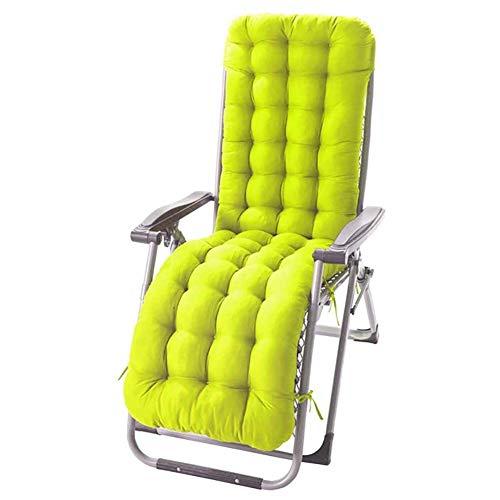 61-Zoll verdicktes Lounge Chair Kissen Indoor Outdoor Chaiselongue Kissen Liegekissen Schaukelstuhl Sofakissen Garten Terrasse Sitzkissen Pad Matte,Grün
