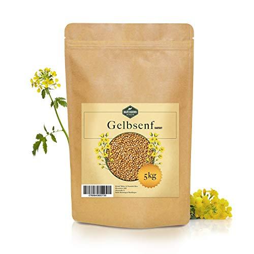 Martenbrown® 5 kg Senfsaat gelb zur Senf-Herstellung oder zur Gründüngung weißer Senf