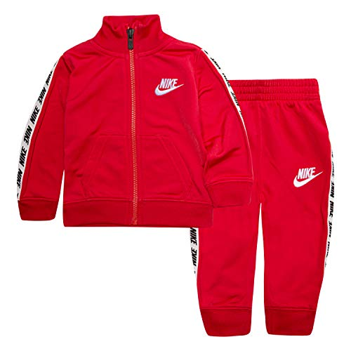 Nike Baby-Jungen Tricot Track Suit 2-Piece Set Trainingsanzug, University Red, 24 Monate