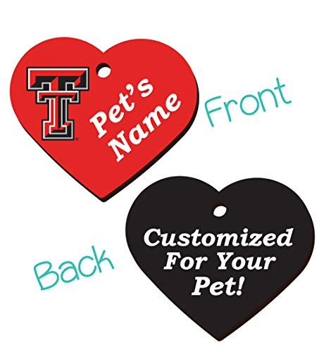 NCAA Officially Licensed 2-Sided Pet Id Tag for Dogs & Cats Personalized for Your Pet (Texas Tech)