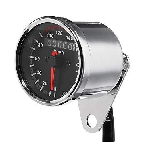XJLJ Motorrad-Tachometer 12V Motorrad-Geschwindigkeitsmesser-LED-Hintergrundbeleuchtung Nacht Lesbare Speed Meter Motorrad Instrument Motorrad Tachömeter Motorrad-Drehzahlmesser