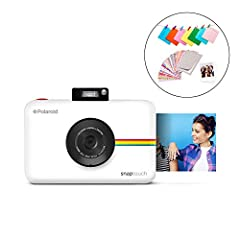 Point, shoot, print – taking picture perfect snapshots is quick and fun. Just frame The shot using the touchscreen Display, press the shutter button to capture the image, then print The photo and watch the memories come to life All-in-one camera and ...