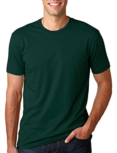 Next Level Mens Premium Fitted Short-Sleeve Crew T-Shirt - Large - Forest Green