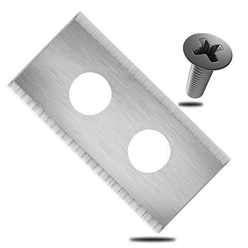 ECENCE Hojas de Repuesto Tipo Cuchillas de Acero Inoxidable para Robot cortacésped - 18 Piezas - para Worx Landroid - Incluye Tornillos