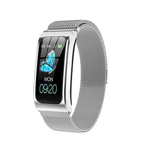 CZX Die Neue Smart-Uhr AK12 Damenuhr Monitor Weiblicher Blutdruck Herzfrequenz Gesundheit Für Android IOS Weibliche Art Und Weise Uhr PK H8 Geeignet Ist,B