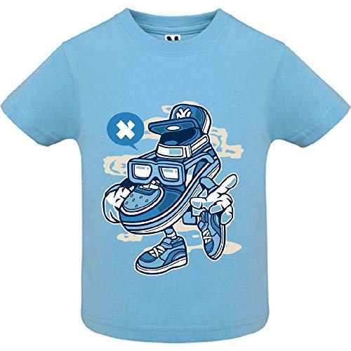 LookMyKase T-Shirt - Street Shoe Bastard - Bébé Garçon - Bleu - 12mois