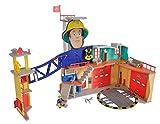 Simba Grande caserne Sam Le Pompier (Format XXL) - avec la Figurine de Sam Le Pompier, lumière, Son et Radio - pour Enfants à partir de 3 Ans