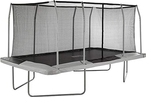 Upper Bounce Rectangle Trampoline Set with Premium Top-Ring Enclosure System – Outdoor Trampoline - Gymnastics Rectangular Trampoline for Kids - Adults - Supports Upto 500 lbs.(9 x 15 FT, Beige/Black)