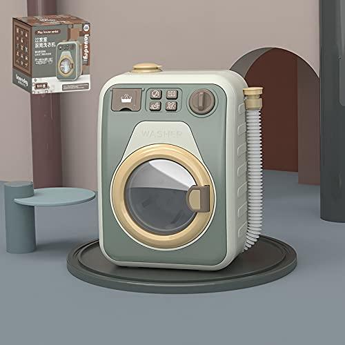 Mini Lavadora de Juguete para NiñOs, Juego de Lavadora y Secadora para NiñOs PequeñOs, Juego de Mini SimulacióN de Cocina para Jugar a la Casa,Juego de Rol en Casa para NiñAs(Color:Soltero Azul)