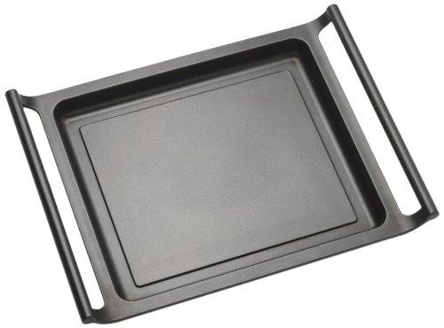 BRA Efficient - Sartén grill lisa, 45 cm, aluminio fundido con antiadherente Teflon Platinum Plus